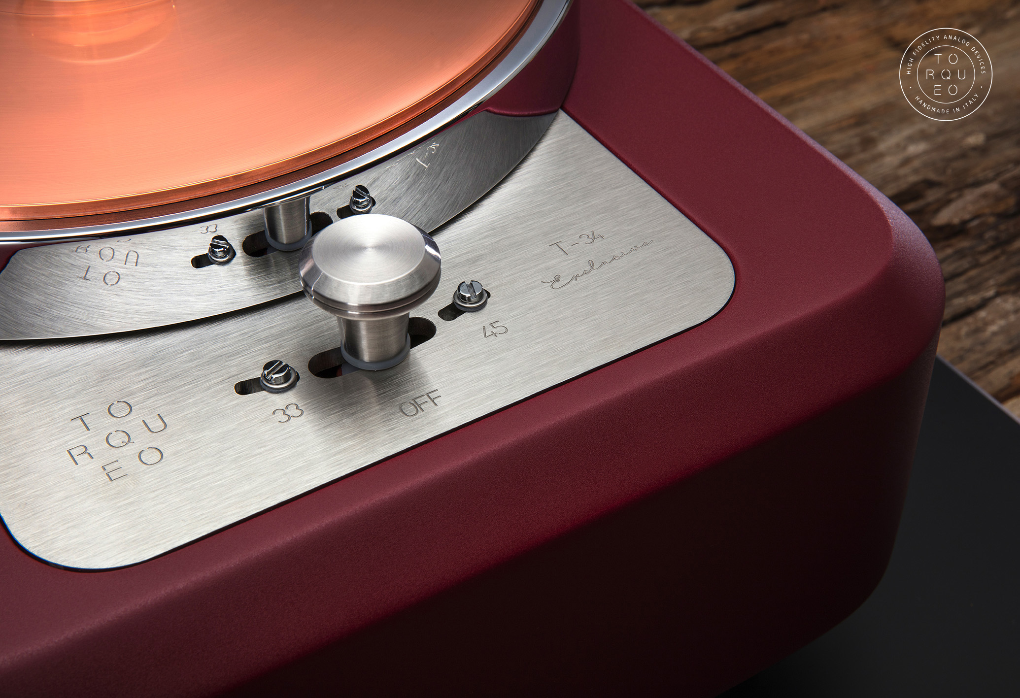 Torqueo Audio T-34 EXCLUSIVE MARSALA COMPACT 01
